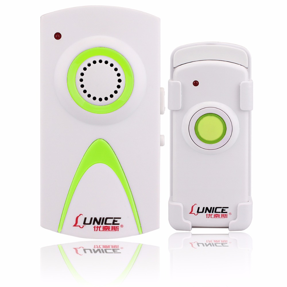 3 Color AC Wireless Doorbell Home Office Door bell Calling System with Receiver and Launcher Button 150m F3326 wireless pager system 433 92mhz wireless restaurant table buzzer with monitor and watch receiver 3 display 42 call button