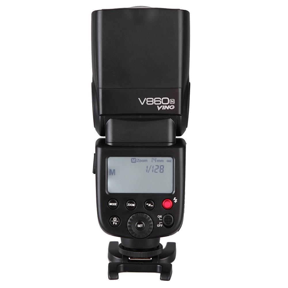 Godox V860N Fast I-TTL HSS V860 Speedlite Li-ion Battery Flash For Nikon D80 D90 D3100 D3200 D5100 D5500 D5300 D7000