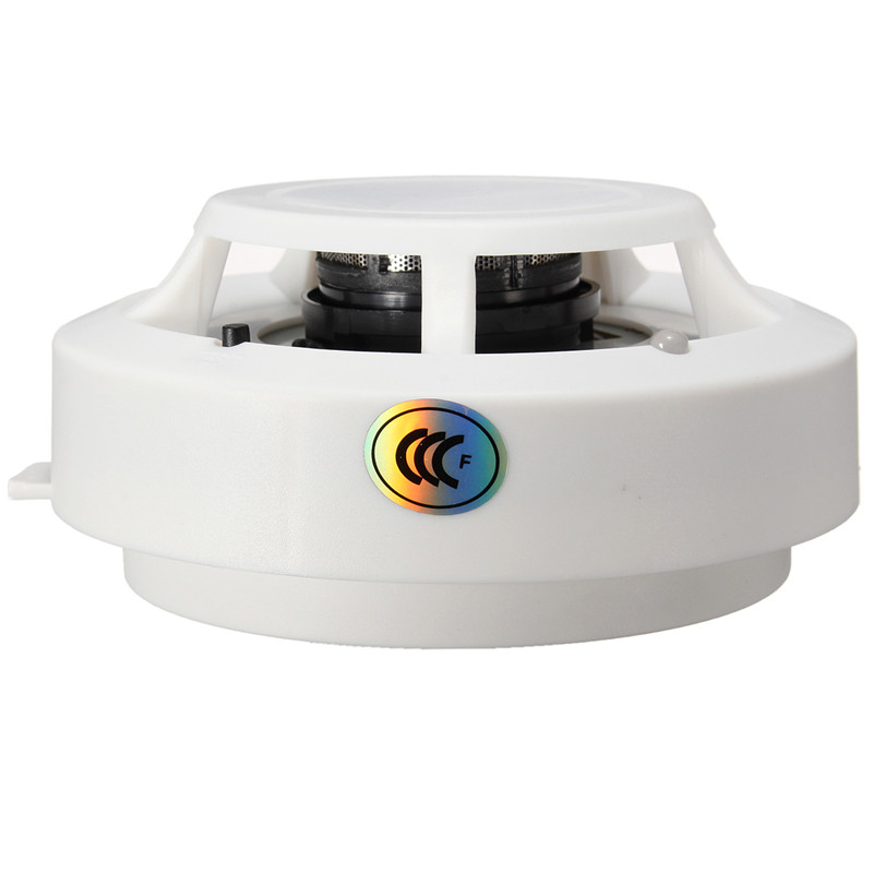 цена на High Sensitive 85DB DC 9V Fire Control Smoke Gas Odor Sensor Induction Alarm Detector Home Safely Security White