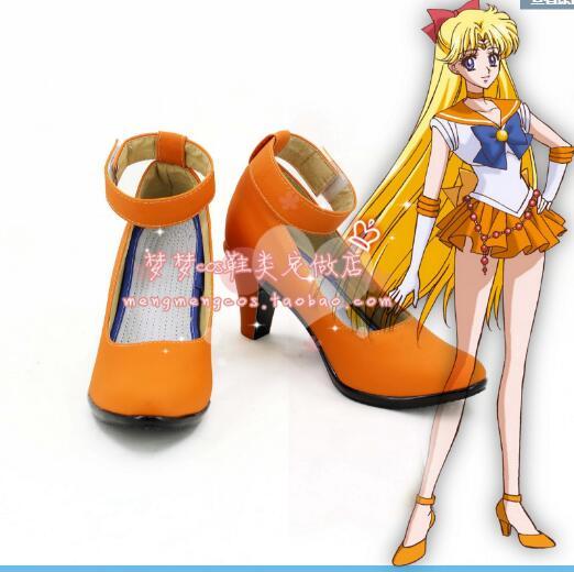 Anime Salior Moon Sailor Neptune/Kaiou Michiru Cosplay Party Dark Green Shoes Custom Made