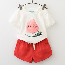 Menoea 2017 Brand Children Clothes Fashion Style Kids Girls Clothing Sets Summer New short Sleeve T-Shirt+Pant Dress 2Pcs