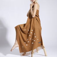 Luxury Brand Fashion Romantic Starry Sky Cashmere Scarf Change Color Under Ultraviolet Ray Long Large Size Star Pashmina Shawls