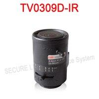 Hik cctv camera lens TV0309D-IR varifocale DC Auto Iris IR Asperical Lens 3-9mm