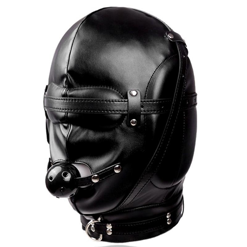Сексуальный косплей собака головной убор кожаный капюшон БДСМ бондаж Фетиш раб повязка на глаза маска колпачок подголовник капот Пром игра одежда в стиле рейв - Цвет: PG0189