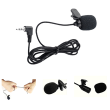 Portable Clip On Lapel Lavalier Microphone 3.5mm Wired Condenser Microphone Microfono Mic For Computer Speaking Speech Black high quality special black hands free clip on 3 5mm mini studio speech microphone