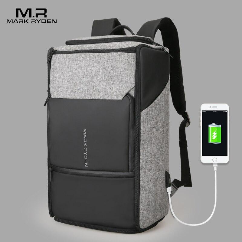 Mark Ryden Neue USB Aufladen Hohe Kapazität Rucksack 180 Grad Reisetasche Fit für 17,3 Zoll Laptop Neue Design Tasche-in Rucksäcke aus Gepäck & Taschen bei  Gruppe 1