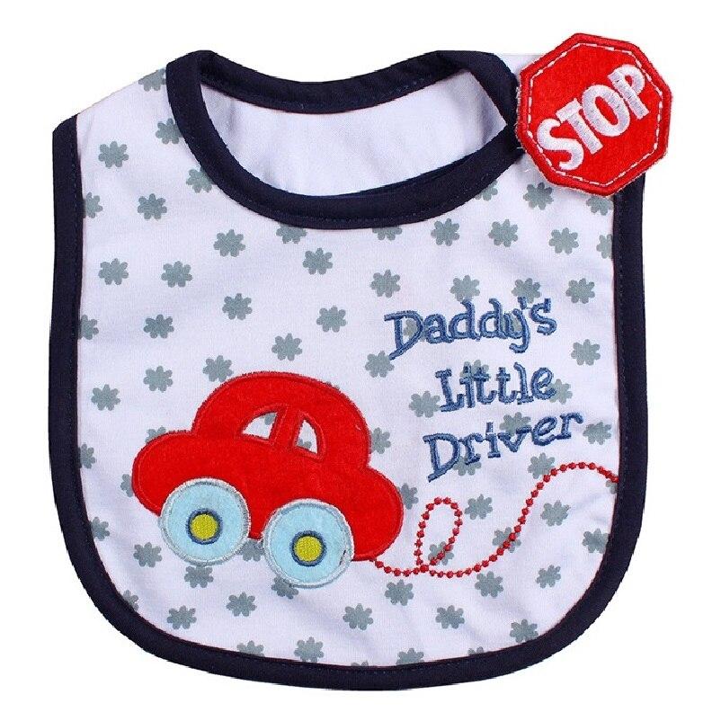 Carros bebé niños Baberos lindo bebé eructo paño 3 capas impermeable Terry babador bandanas bebés Saliva toallas pañuelo bordado
