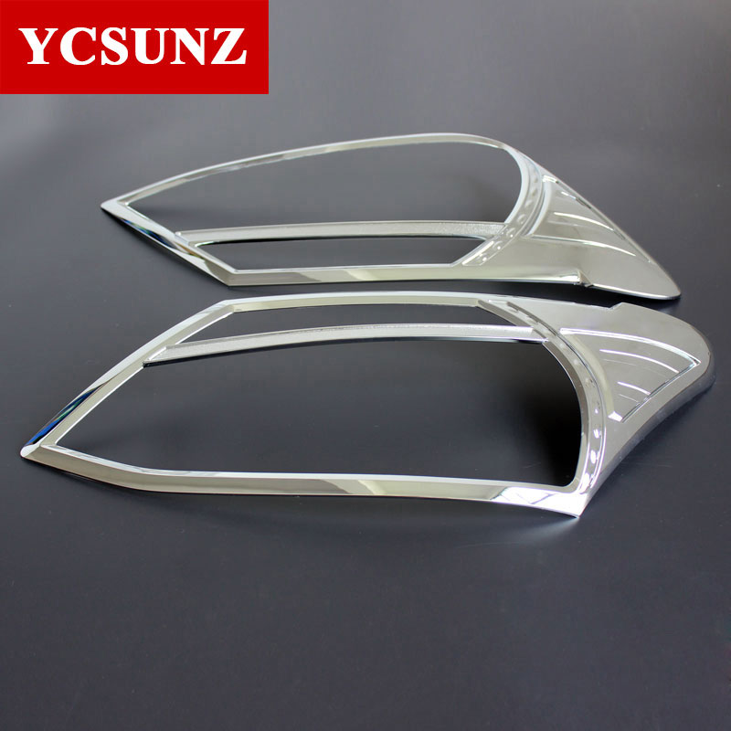 ABS Chromium Styling Chrome Head Light Cover Sticker For ISUZU D-MAX2012 Hit Car Accessories Exterior Lamp Decoration Products