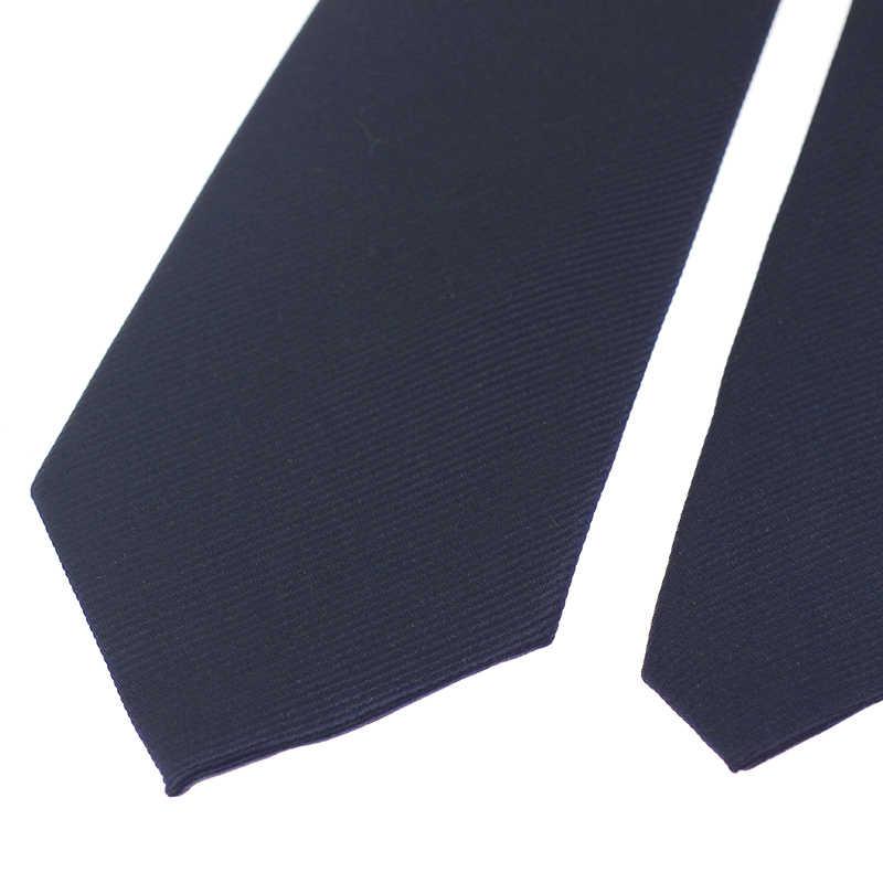 أزرق داكن 8 سنتيمتر رابطة عنق الرجال نحيل ربطة العنق العلاقات الزفاف البوليستر موضة رجال الأعمال ربطة العنق قميص اكسسوارات