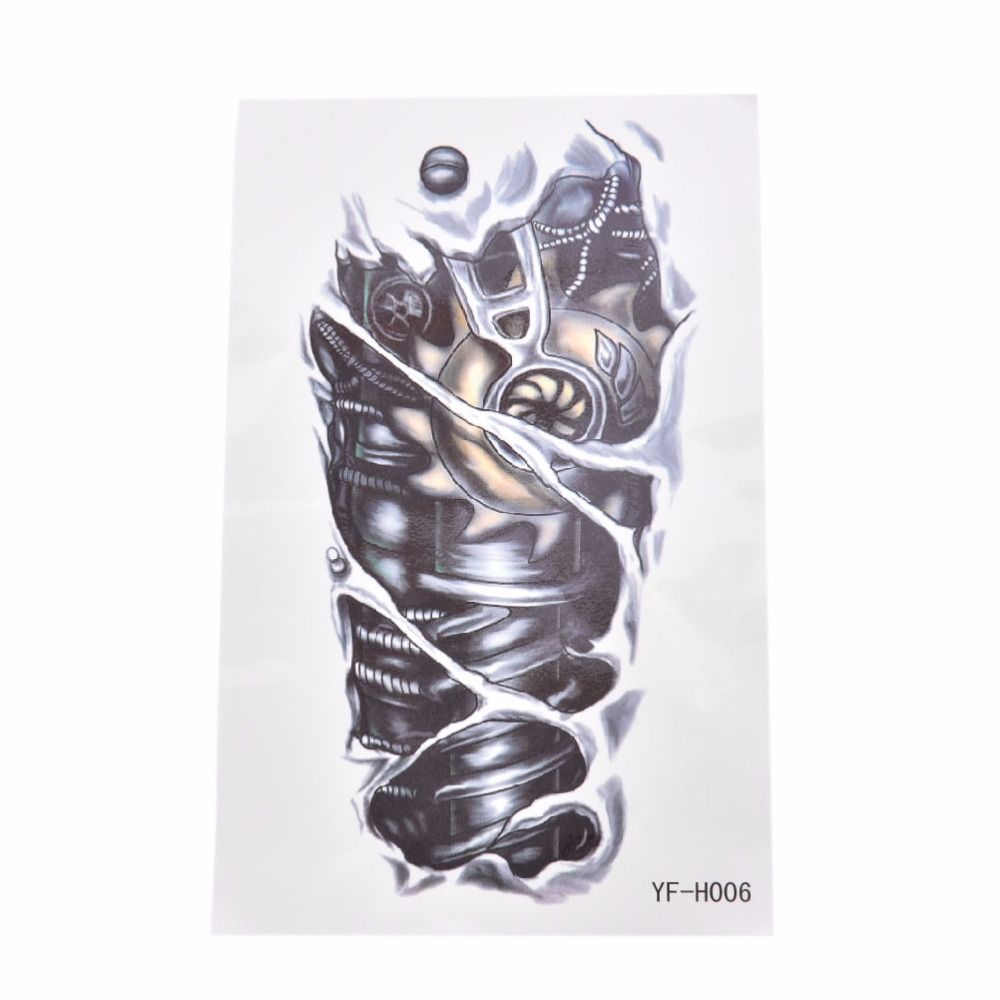 Online buy wholesale mechanical tattoos from china for Temporary arm tattoos