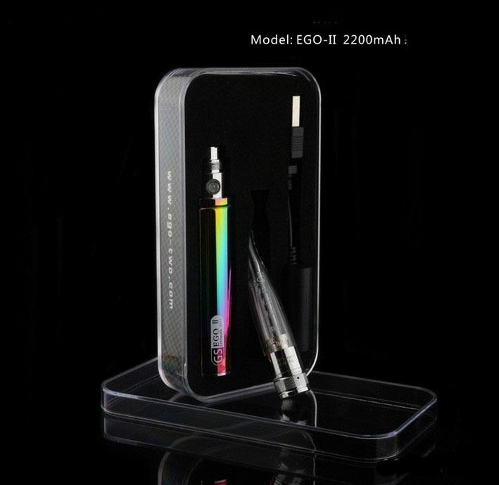 GreenSound Rainbow 2200mAh GS eGo II Mega Starter-kit Elektroniskt cigarettpaket Variabelt spänning 3.3V-4.8V GH-H2S atomizer