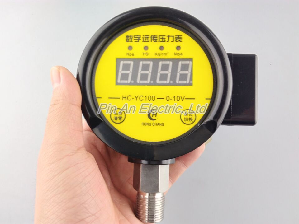 DC12V-24v 0-40MPA Digital remote pressure gauge constant pressure water supply  Digital remote pressure gauge digital hydraulic pressure gauge 400bar 40mpa 10000psi with bsp1 4 connector backlight pressure tester meter