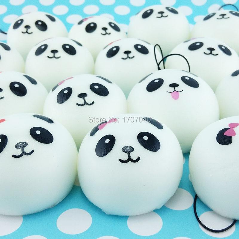 Squishy Toys Five Below : Aliexpress.com : Buy 40pcs/lot 4cm Cute Panda Face Cartoon Squishy Kawaii Bread Buns Simulation ...