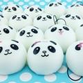 40pcs/lot 4cm Cute Panda Face Cartoon Squishy Kawaii Bread Buns Simulation Food Toys Wholesale