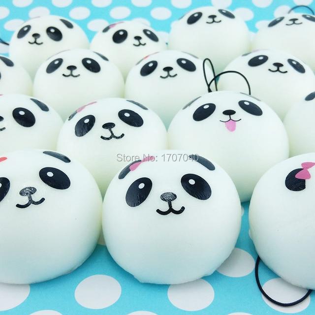 Panda Bun Squishy Supplier : Aliexpress.com : Buy 40pcs/lot 4cm Cute Panda Face Cartoon Squishy Kawaii Bread Buns Simulation ...