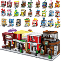 SemBo Model Building Store Kits Blocks Architectural Shops Mini Street Scene Sets Kids Toys for Children Jet