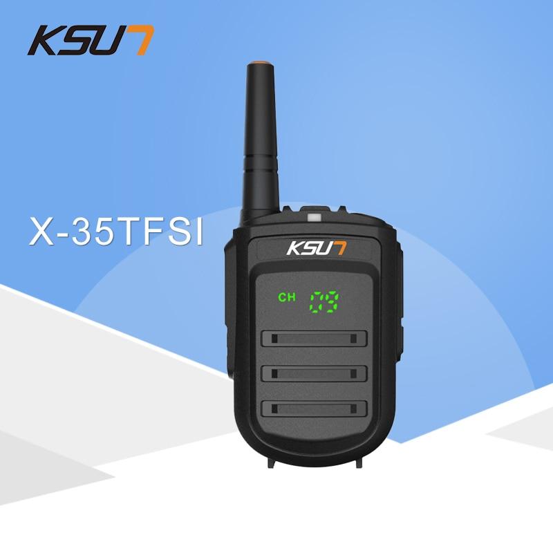 Walkie Talkie KSUN X-35TFSI Walkie Talkie 8W Handheld Pofung UHF 8W 400-470MHz 128CH Two Way Portable CB Radio