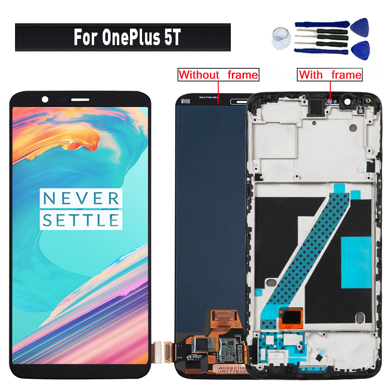 Original For OnePlus 5T display lcd touch Screen Assembly replacement for OnePlus 5T A5010 lcd display screen module-in Mobile Phone LCD Screens from Cellphones & Telecommunications