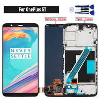 Original For OnePlus 5T display lcd touch Screen Assembly replacement for OnePlus 5T A5010 lcd display screen module
