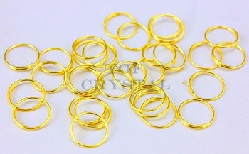 10000Pcs 12mm Gold/Silver/Chrome Stainless Steel Rings For crystal Octagon Beads Connectors