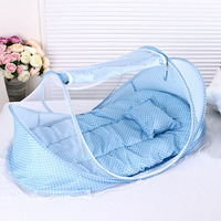 Children bed Baby Bed With Pillow Mat Set Portable Foldable Crib With Netting Newborn Infant Bedding Sleep Travel Bed