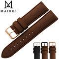 Maikes boa qualidade banda de silicone dos homens 20mm 22mm fivela em ouro rosa pulseira de borracha pulseira pulseira cinto para omega relógio do esporte