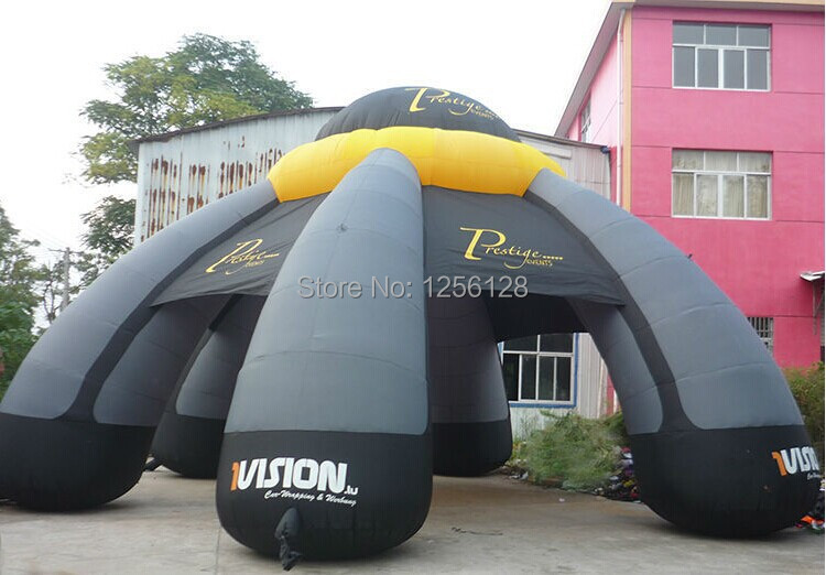 Free Air Blower! Big Grey Inflatable Event Tent With Logo funny summer inflatable water games inflatable bounce water slide with stairs and blowers