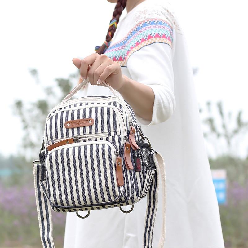 Mochila pequeña para mujer a la moda, bolsa de viaje impermeable con múltiples bolsillos, bolsa de pañales para bebé, sac de rangement