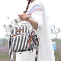 Mode femmes petit sac à dos dames sacs, sac de voyage imperméable à plusieurs poches, sac mère bébé Nappy sacs, sac de rangement