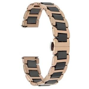 Image 3 - Ремешок из керамики и нержавеющей стали для наручных часов, быстросъемный браслет с пряжкой бабочкой Жак Лемана, 12 14 16 18 20 22 мм