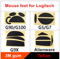2 sets/pack teflon mouse skates mouse feet for Logitech G90/G100 G9/G9X G5/G7 Thickness is 0.6mm