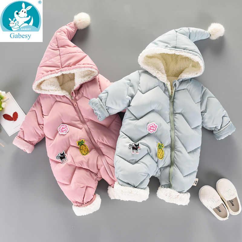 c73e6f341819 Winter Rompers Baby girl newborn Clothes Children Boys Girls Jumpsuit Kids  Down Cotton Overalls snowsuit Hoodies