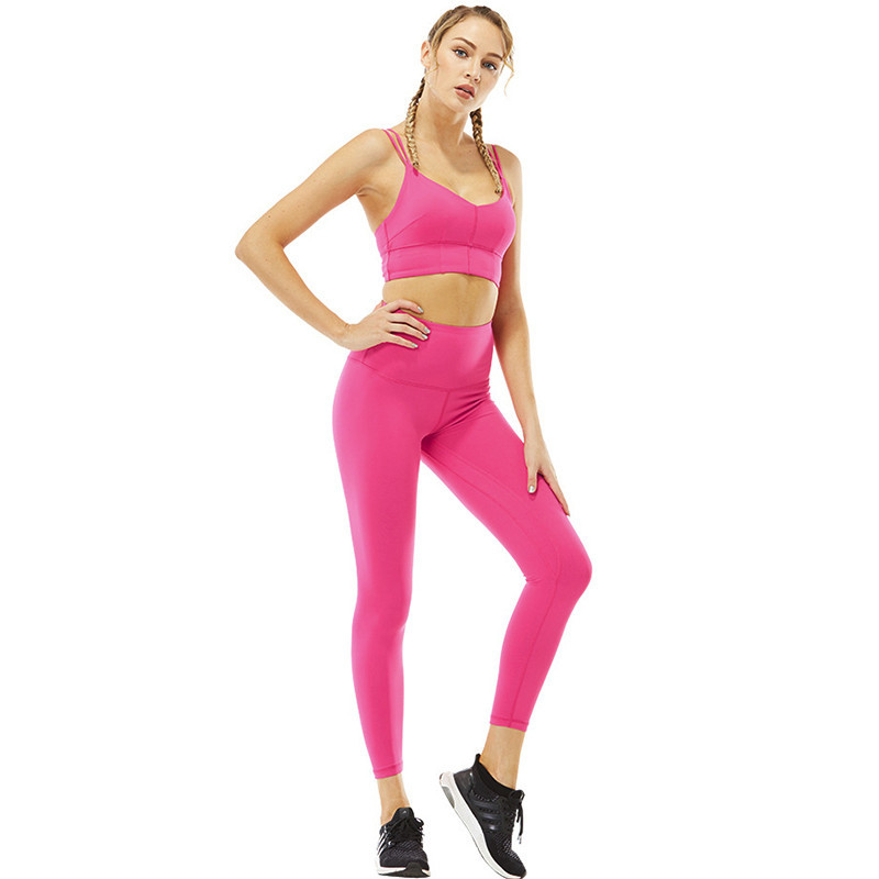 dacfeb557 Las mujeres de Yoga conjunto elástico auto-Cultivo de Fitness ropa ...