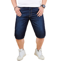Men Clothes 2019 Solid color New Summer Denim Cotton Shorts Stretch Casual Jeans Men's Clothing Man Short Large Size 32 48