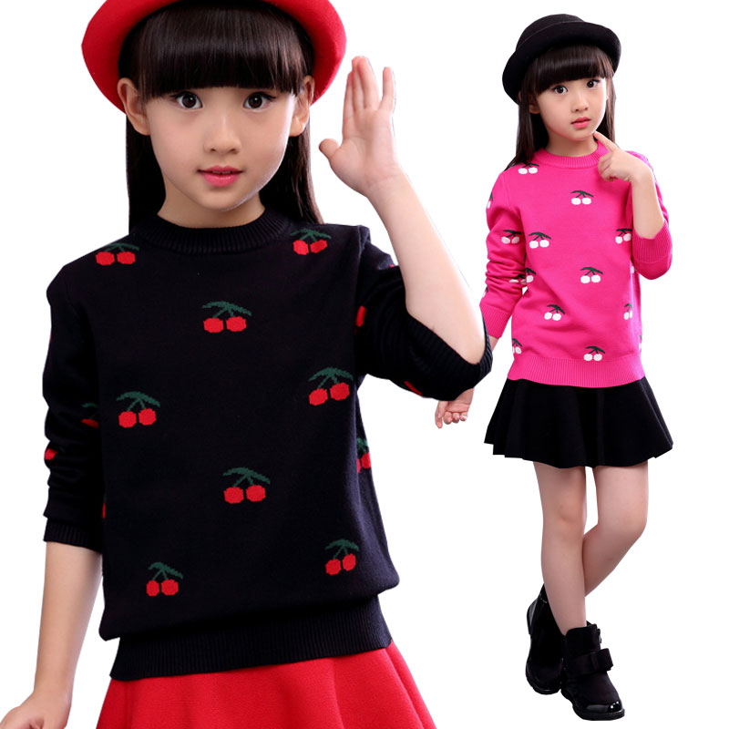 2018 New Autumn Back To School Outfits Kids Clothes Sweaters Girls Sweater Children Clothing Toddler Girls Knit Coat Pull Fille twist back crop chunky knit sweater