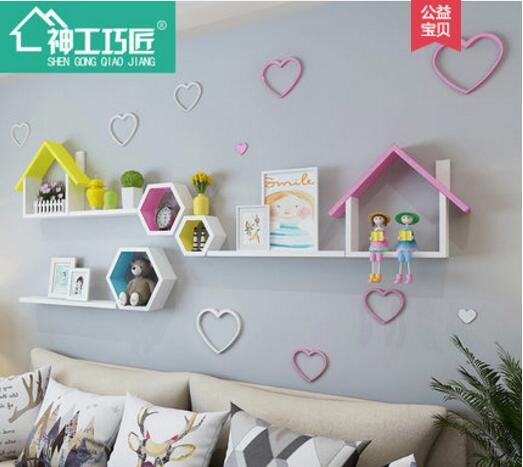 On the wall buy content wearing the setting wall of TV wall of the sitting room that need not punch is decorated image