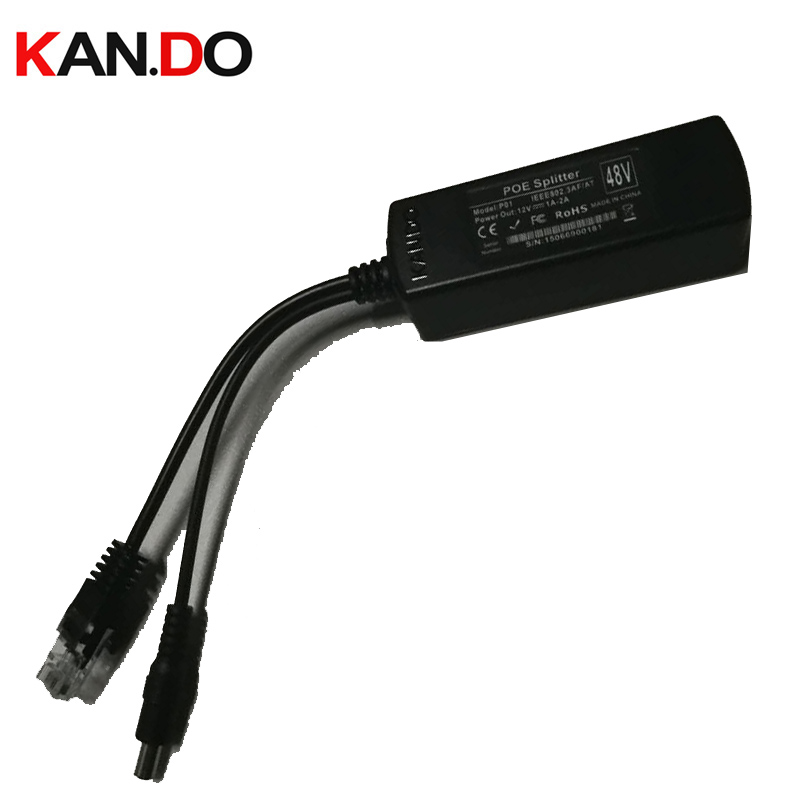 48v-12v poe 15.5W POE Adapter Cable POE Splitter Power Supply Module 12 v Separator Combiner Black Color 12V power cable