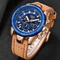 Мужские модные спортивные кварцевые часы Erkek Kol Saati LIGE  брендовые Роскошные военные водонепроницаемые часы Relogio Masculino