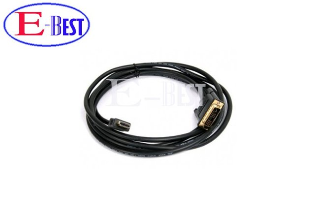 5ft 1.5m Gold DVI Male to HDMI Cable for satellite receiver / LCD HDMI to DVI cable for dm800  dm800hd Free shipping post