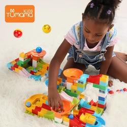 104 pcs mármore corrida labirinto bola pista blocos de construção funil plástico slide tamanho grande tijolos blocos compatíveis