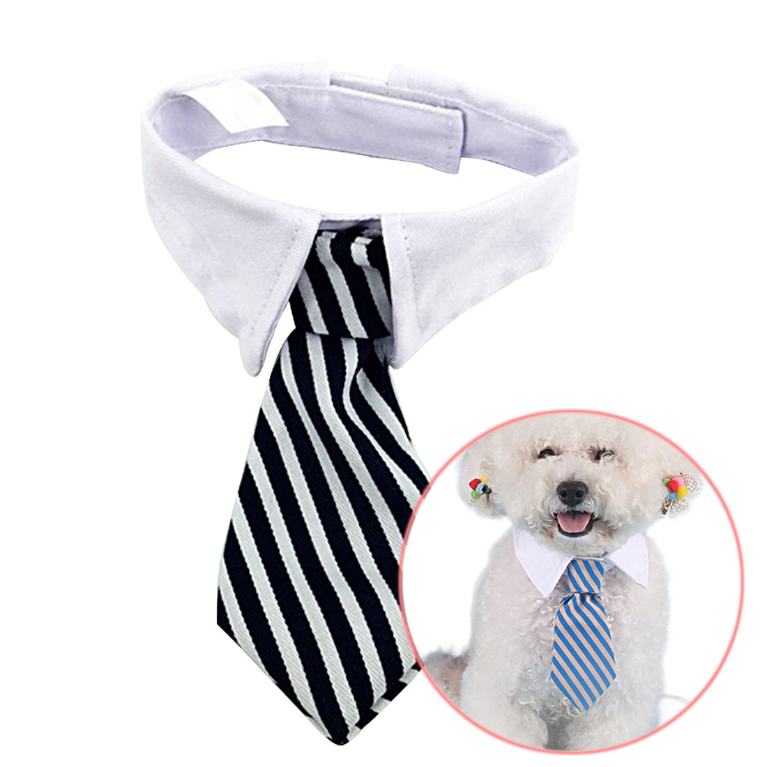 Pet Accessories S/L Pet Ties Stripe Small Cotton Pet Dog Puppy Necktie Adjustable Bow Tie Grooming for Christmas Decor