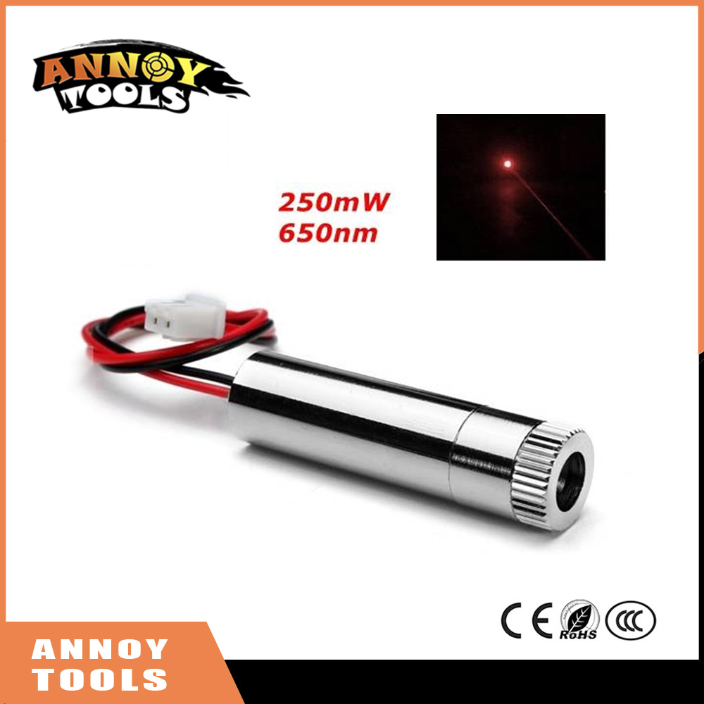 Red laser dot  module 250mW 650nm High power laser with focusing DIY engraving machine Laser head small spot high quality glass lens 10mw 650nm red laser module point aiming laser lamp