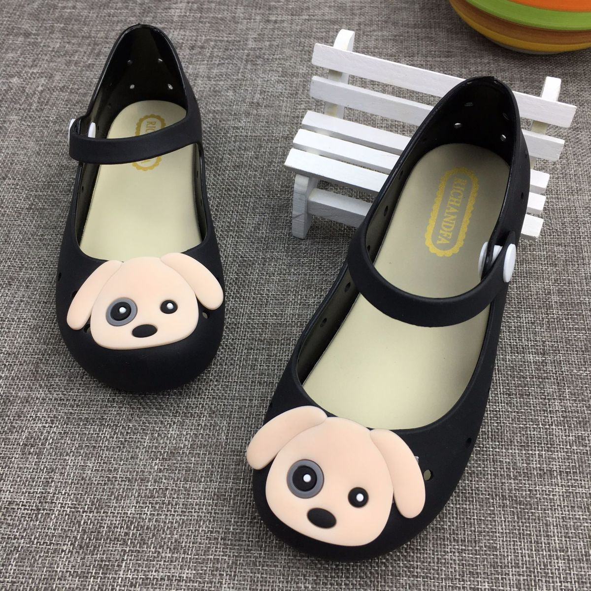 New Childrens Mimi Melissa Cute Cartoon Puppies Girls Infante Children Air-tight Jelly Shoes Eur 24 - 29