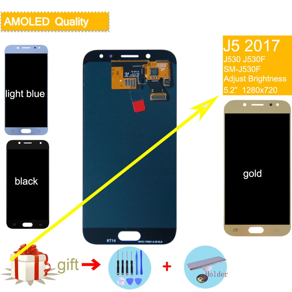 LCD Pour SAMSUNG Galaxy J5 2017 LCD Affichage Tactile assemblée D'écran Pour SAMSUNG Galaxy J5 2017 J530F J530FN D'origine LCD complète