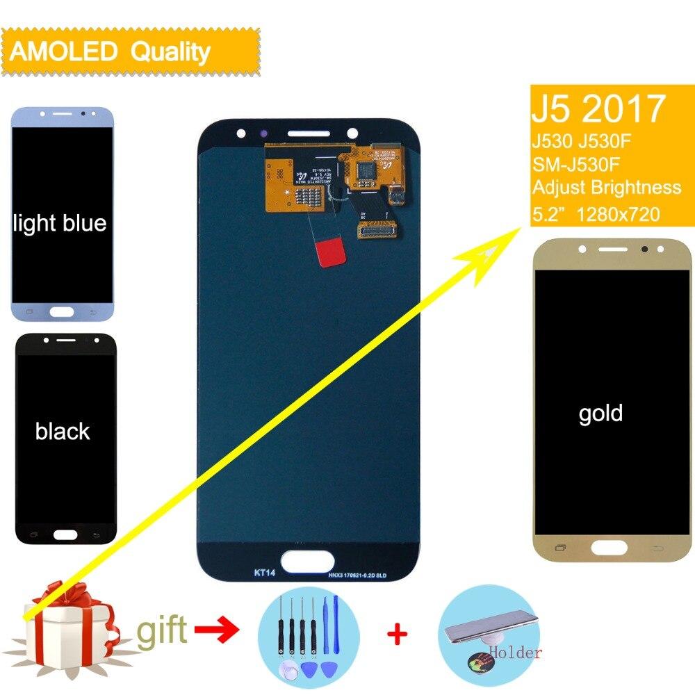 LCD Pour SAMSUNG Galaxy J5 2017 LCD Affichage Tactile assemblée D'écran Pour SAMSUNG Galaxy J5 2017 J530F J530FN D'origine LCD complète