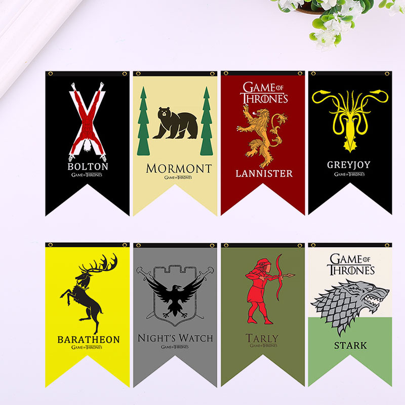 Game of thrones banner flag stark mormont tarly lannister for Game of thrones garden ornaments