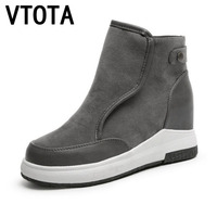 VTOTA Boots Women Autumn Wedges Shoes Spring Zapatillas Mujer Platform Casual Shoes Woman Botas Ankle
