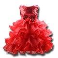 Anos as crianças da menina da princesa que bling vestidos wedding party stage trajes de desempenho em camadas vestidos de baile vestido de festa infantil