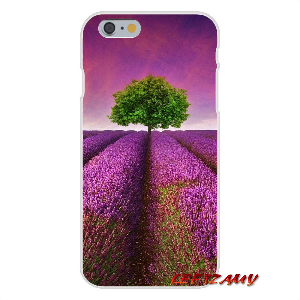 sports shoes 9f05c b9bd9 US $0.99 |Provence Lavender Purple Flower Slim Silicone phone Case For  iPhone X 4 4S 5 5S 5C SE 6 6S 7 8 Plus-in Half-wrapped Case from Cellphones  & ...