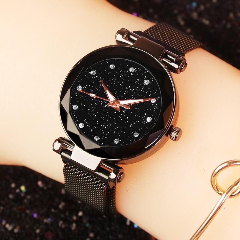 Women Watches Ladies Magnetic Starry Sky Clock Fashion Diamond Female Women Quartz Wristwatches relogio feminino reloj mujer
